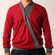 maglione collo scialle